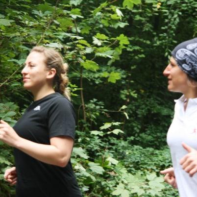 Personaltraining - Kerstin Laib joggt mit.
