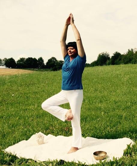 Yoga, Meditation und Entspannung. Übung im Freien.